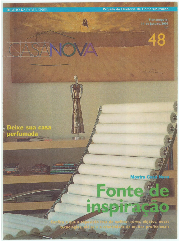 Jornal Diário Catarinense – Caderno Casa Nova – Janeiro de 2003