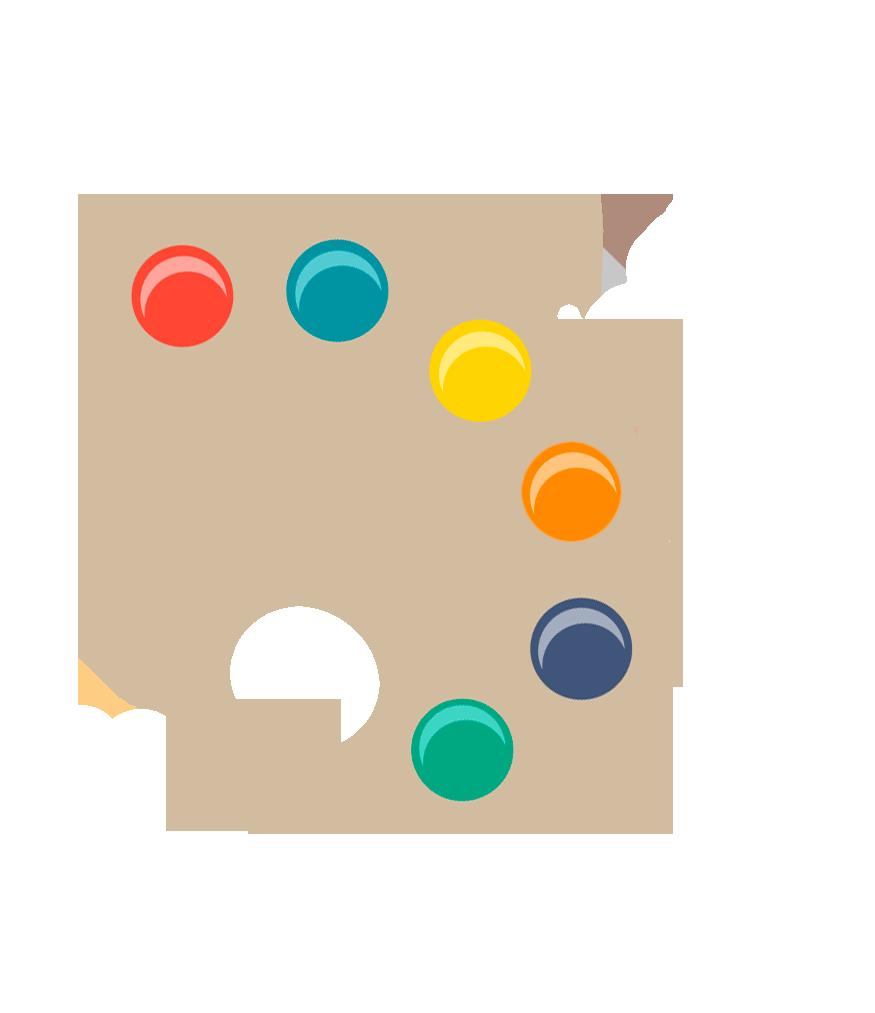 Como misturar cores