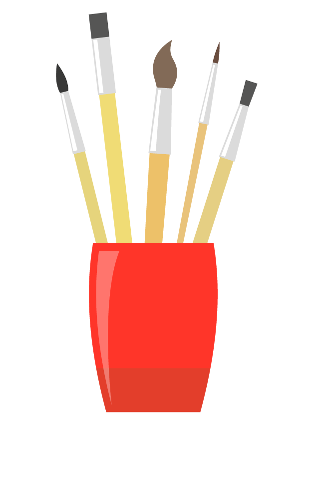 Como usar pincéis e espátulas